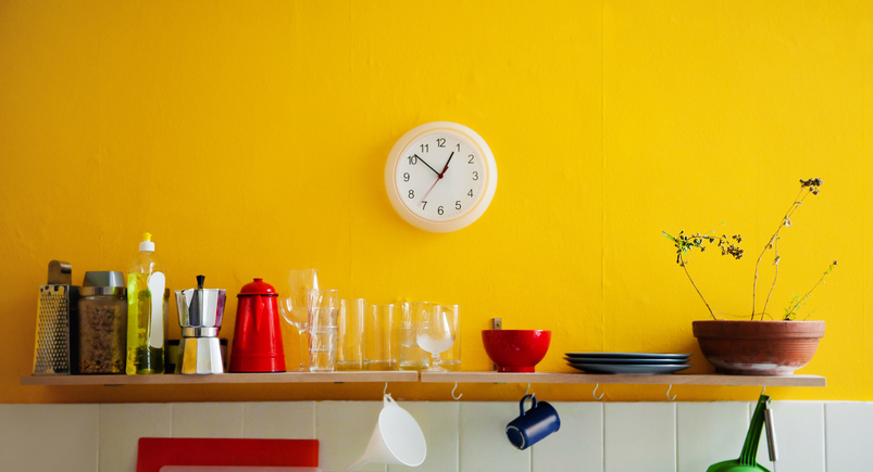 Colour in the kitchen area